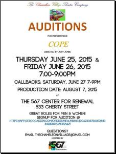 Cope-Audition Announcement